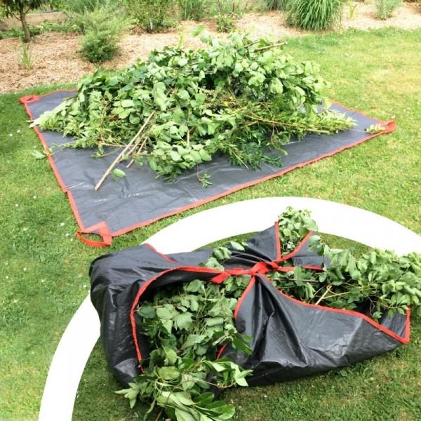 Bâche collecte déchets verts 2,5x2,5m