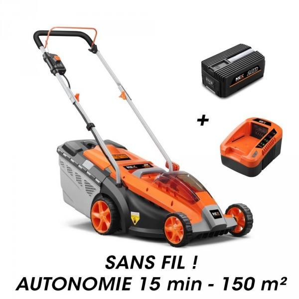 Tondeuse à batterie E137C + batterie EP20 + chargeur EC20 NEX GARDEN