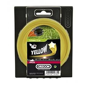 Fil débroussailleuse rond jaune 2,0 mm OREGON