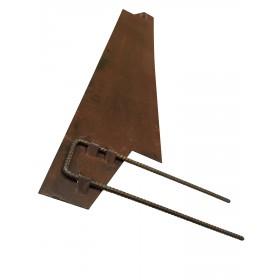 Bordure acier galva 2000x150x2.5