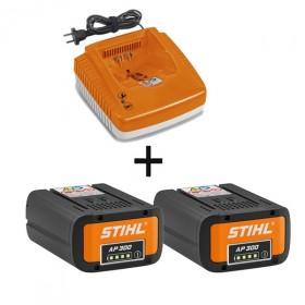 Pack energie+ STIHL - 2 Batterie AP300 + chargeur AL300