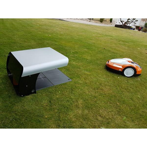 Abri pour robot toutes marques noir, toit blanc