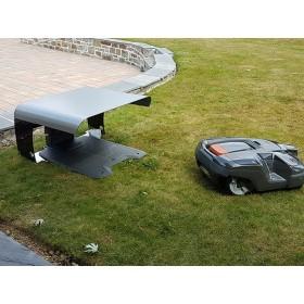 Abri pour robot toutes marques noir,toit gris anthracite