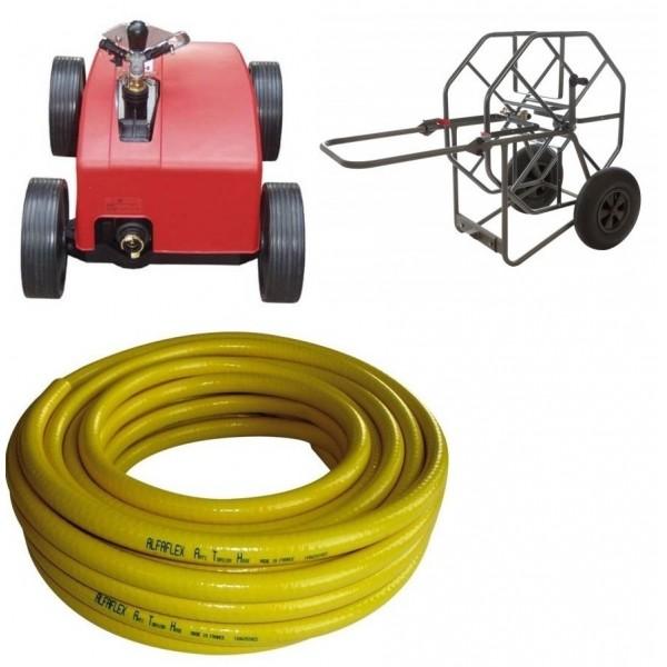 Arroseur automatique ROLLCART + dévidoir + tuyau souple