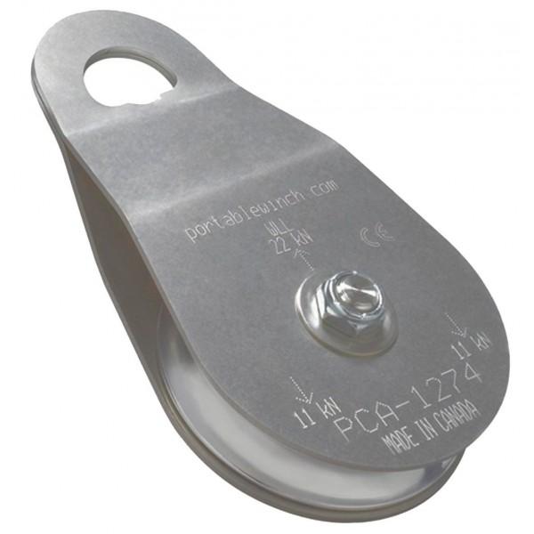 Poulie simple à côtés oscillants Ø100mm PORTABLE WINCH