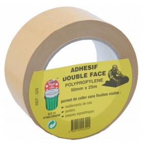 Adhesif double face 50 mm x 25 m GECOSAC