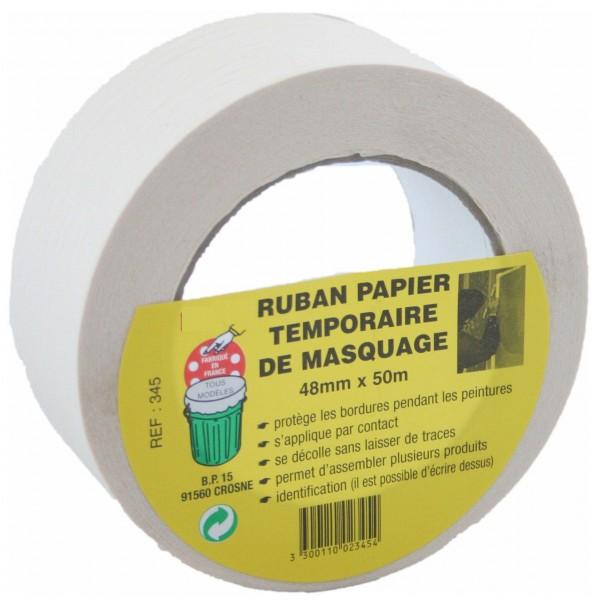 Papier masquage 50 mm x 50 m lisse GECOSAC