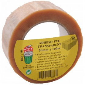 Adhesif pvc 50 mm x 100 m transparent GECOSAC