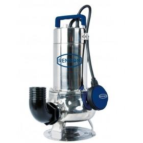 Pompe de relevage monophasée inox pour eaux très chargées 0,75 kw RENSON