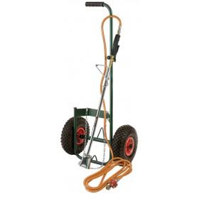 Kit desherbeur thermique avec chariot roues gonflables RIBIMEX