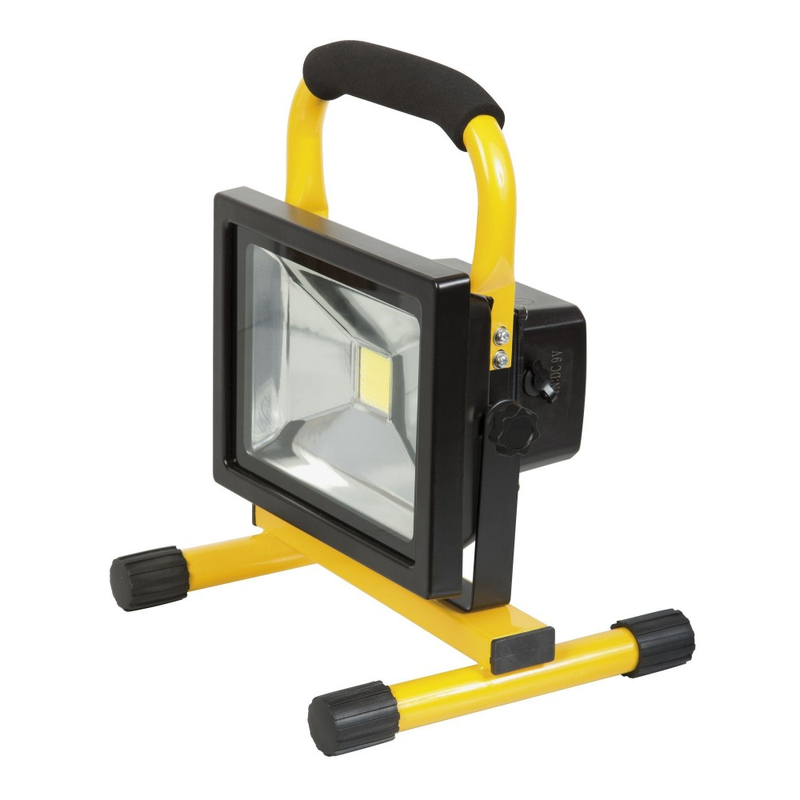 projecteur led 20w 1200 lumens batterie li ion. Black Bedroom Furniture Sets. Home Design Ideas