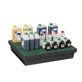Bac de rétention 60L pour paillasse, rayonnage et armoires MDM