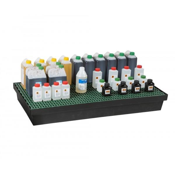 Bac de rétention 90L pour paillasse, rayonnage et armoires MDM
