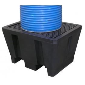 Bac de rétention en polyéthylène recyclé pour 1 fût MDM