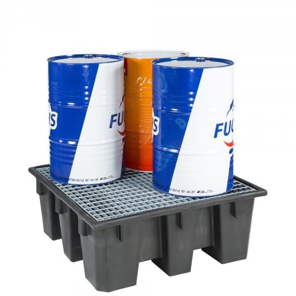 Bac de rétention en polyéthylène recyclé pour 4 fût MDM
