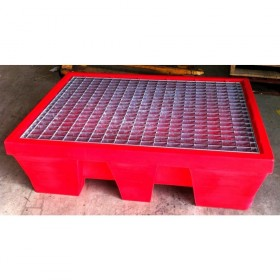 Bac de rétention en polyéthylène pour 2 fûts MDM