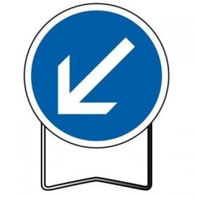"B21a2 classe 2 "" passage obligatoire à gauche "" TALIAPLAST"