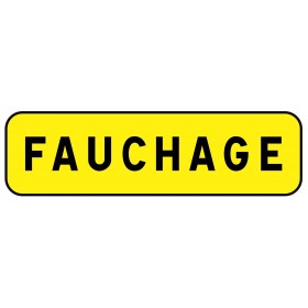 """KM9 jaune classe 2 """" fauchage """" TALIAPLAST"""