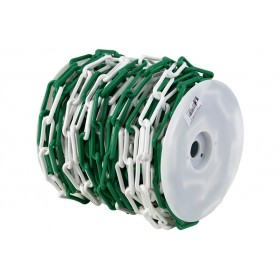 Chaîne balisage PEHD vert et blanc diam 8, 37,5 ml NOVAP