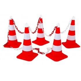 Kit 5 cones de balisage Express 50 rouge/blanc NOVAP