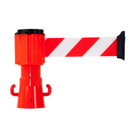 Derouleur de sangle 50 mm x 4 m rouge/blanc NOVAP