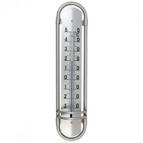 Thermomètre aluminium rond 39 cm
