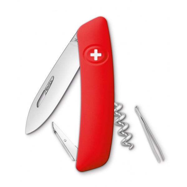 Couteau D01 rouge 6 fonctions Swiza