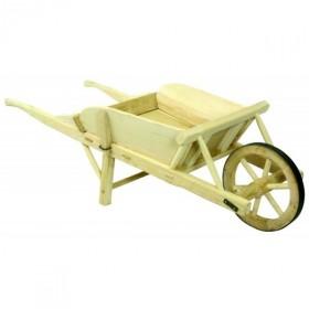 Brouette en bois roue cerclée de fer ROUSSELET