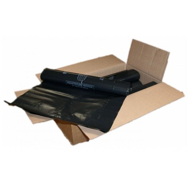 carton 100 sacs poubelle noir 150l 80x135 80 microns. Black Bedroom Furniture Sets. Home Design Ideas