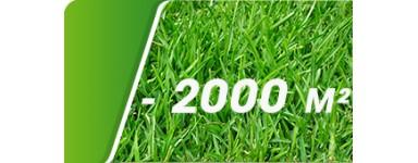 Jusqu'à 2000 m²