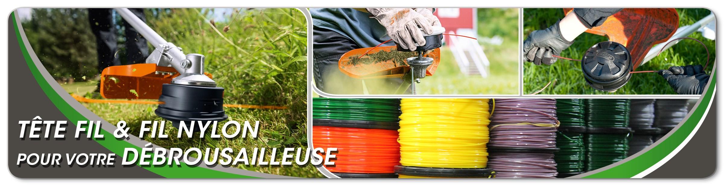 Tête fil & fil nylon pour votre débrouissailleuse